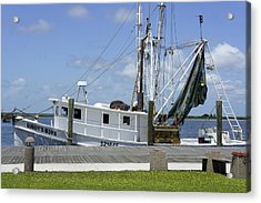 Appalachicola Shrimp Boat Acrylic Print by Laurie Perry