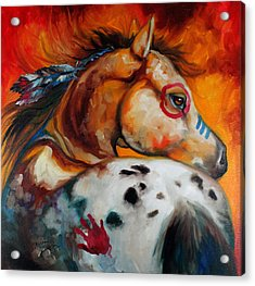 Appaloosa Indian War Pony Acrylic Print