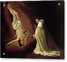 Appearance Of Saint Peter To Saint Peter Nolasco Acrylic Print by Francisco de Zurbaran