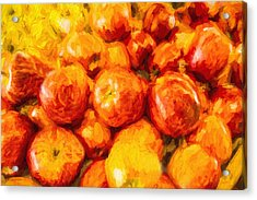 Apple A Day - Impressionism Acrylic Print by Barry Jones