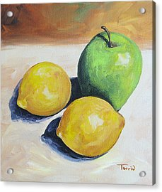 Apple And Lemons Acrylic Print