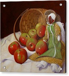 Acrylic Print featuring the painting Apple Annie by Donelli  DiMaria