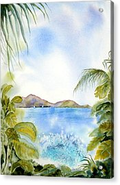 Apple Bay Wave Acrylic Print