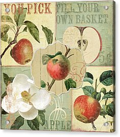 Apple Blossoms Patchwork IIi Acrylic Print by Mindy Sommers
