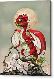Acrylic Print featuring the digital art Apple Dragon by Stanley Morrison