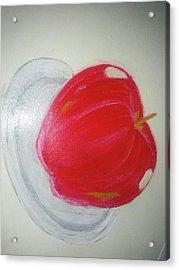 Apple In Plate Acrylic Print by Shweta Singh