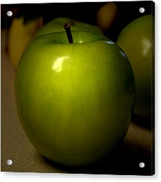 Apple Acrylic Print by Linda Sannuti