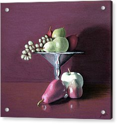 Apple  Pears And Grapes Acrylic Print
