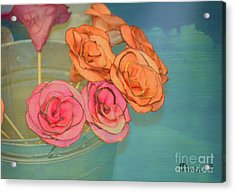 Acrylic Print featuring the photograph Apple Roses by Traci Cottingham