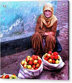 Apple Seller Acrylic Print by Dominic Piperata