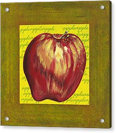 Apple Series Number One Acrylic Print by Sonja Olson