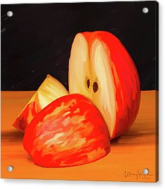 Apple Study 01 Acrylic Print by Wally Hampton