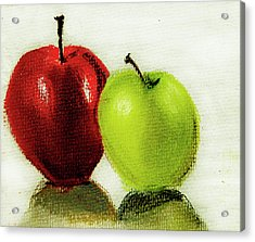 Acrylic Print featuring the pastel Apple Study by Linde Townsend