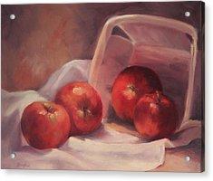 Apples And  Basket Acrylic Print