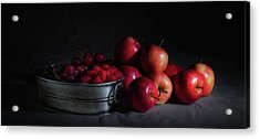 Apples And Berries Panoramic Acrylic Print