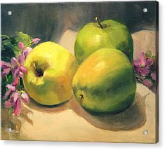 Apples And  Blossoms Acrylic Print