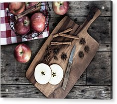 Acrylic Print featuring the photograph Apples And Cinnamon  by Kim Hojnacki