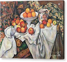 Apples And Oranges Acrylic Print by Paul Cezanne