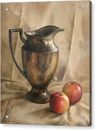 Apples And Pitcher Acrylic Print by Anna Rose Bain