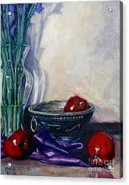 Apples And Silk Acrylic Print