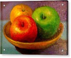 Apples Acrylic Print by Eun Yun