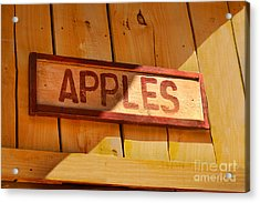 Apples For Sale Acrylic Print by Jennifer Apffel