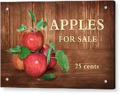 Apples For Sale Acrylic Print by Lori Deiter