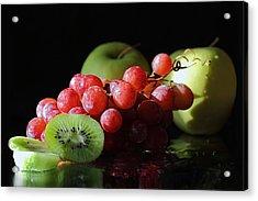 Apples, Grapes And Kiwi  Acrylic Print