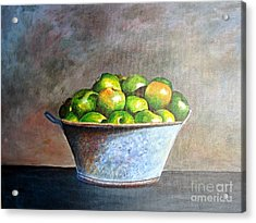 Apples In A Rusty Bucket Acrylic Print