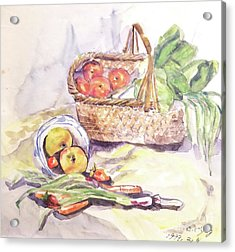 Apples In Basket Acrylic Print