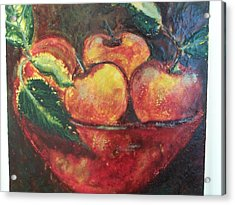 Apples Acrylic Print by Karla Phlypo-Price