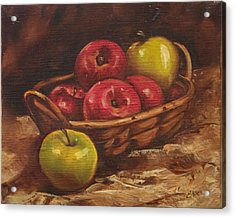 Apples Acrylic Print by Linda Eades Blackburn