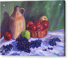 Apples With Grapes Acrylic Print by Richard Nowak
