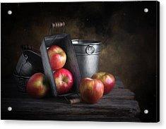 Apples With Metalware Acrylic Print