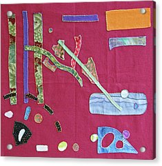 Applique 12 Acrylic Print by Eileen Hale
