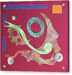 Applique 6 Acrylic Print by Eileen Hale