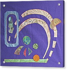 Applique 8 Acrylic Print by Eileen Hale