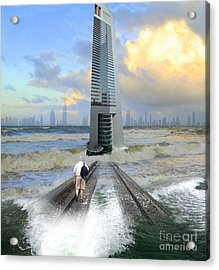 Approach To Dubai Acrylic Print by Ayesha DeLorenzo
