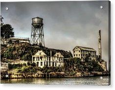 Approaching Alcatraz Island #2 Acrylic Print by Jennifer Rondinelli Reilly - Fine Art Photography