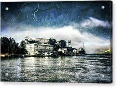 Approaching Alcatraz Island By Boat Acrylic Print by Jennifer Rondinelli Reilly - Fine Art Photography
