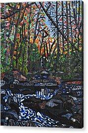 Approaching Big Bradley Falls Acrylic Print by Micah Mullen