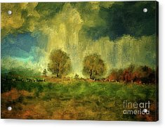 Acrylic Print featuring the digital art Approaching Storm At Antietam by Lois Bryan
