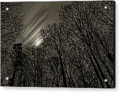 Approaching Storm, Black And White Acrylic Print