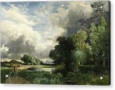 Approaching Storm Clouds Acrylic Print by Thomas Moran