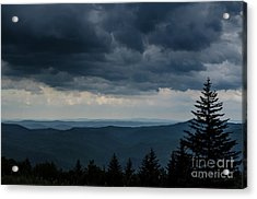 Approaching Storm Highland Scenic Highway Acrylic Print by Thomas R Fletcher