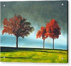 Approaching Storm Acrylic Print by Marina Petro