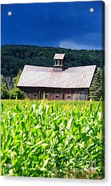 Approaching Storm Vermont Barn Acrylic Print