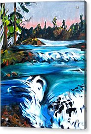 Approaching The Falls Acrylic Print by Patricia Bigelow