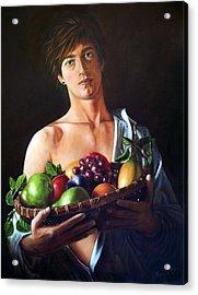 Apres Caravaggio - Garcon Avec Le Panier Du Fruit Acrylic Print