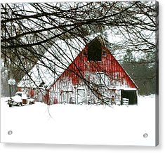 April Blizzard Acrylic Print